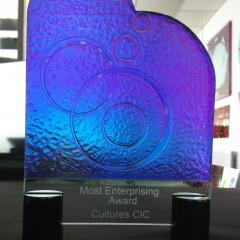 Catalyst Glass Awards Iridescent Effect