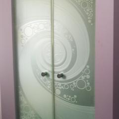 Frameless Decorative Glass Doors
