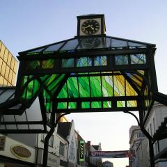 Stained Glass Clock Tower