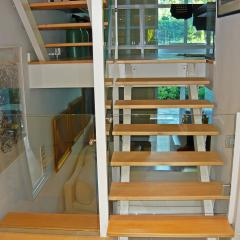 Glass Structural Partitions and Staircase